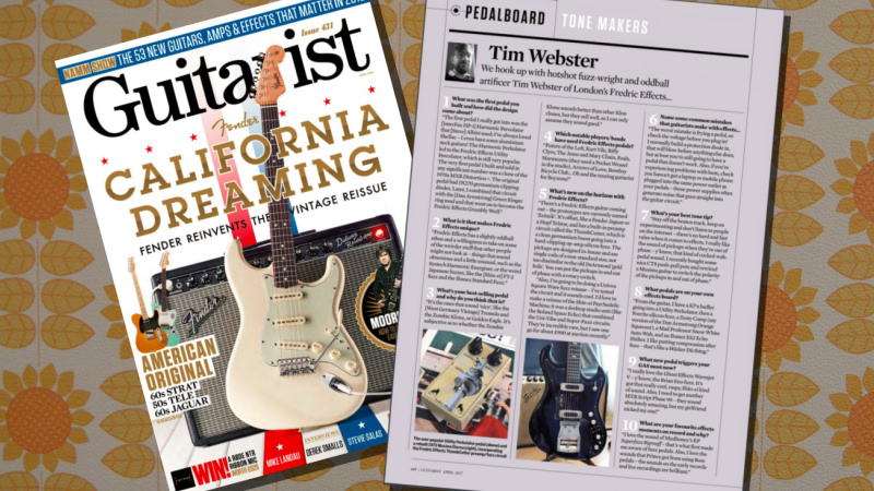 <span class='slidehead'>Guitarist Magazine</span><br>Fredric Effects featured in Guitarist Magazine.