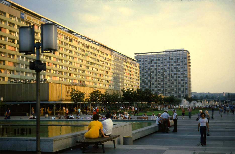 background image - photo of Prager Str in Dresden in the 70s