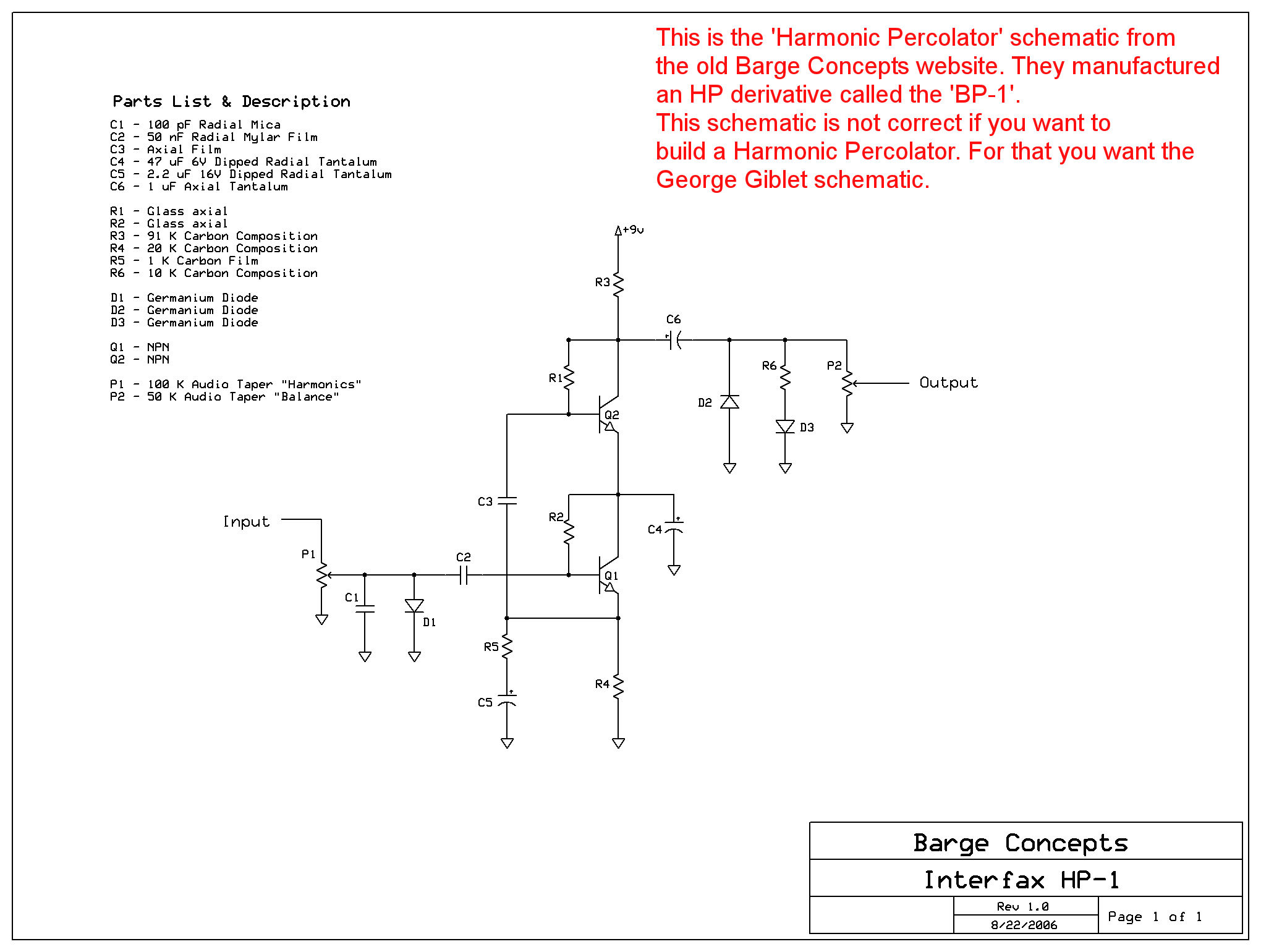Barge Concepts  U0026 39 Harmonic Percolator U0026 39  Schematic