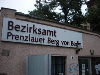 bezirksamt prenzlauer berg in the rain berlin