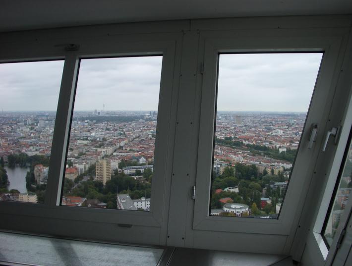 funkturm charlottenburg berlin view of tiergarten fernsehturm